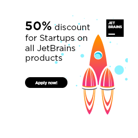 Startup Discount Program: 50% OFF All JetBrains Products