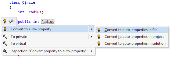 'Convert to auto-property' quick-fix