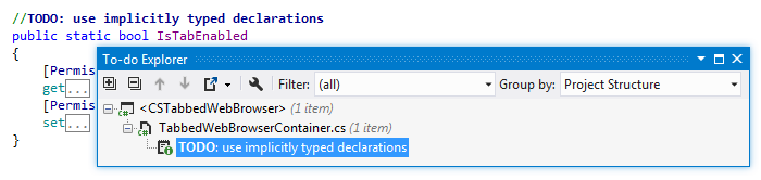 Viewing to-do items with ReSharper