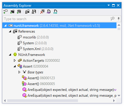 ReSharper's Assembly Explorer window