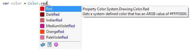 Colors in the completion auto-popup
