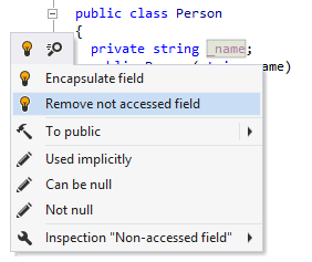 ReSharper detects unused field
