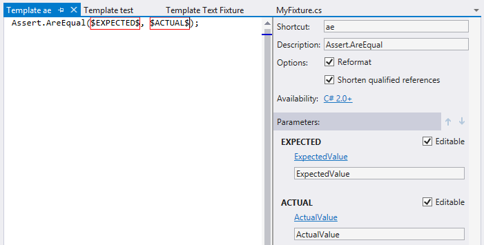 Creating unit tests with ReSharper