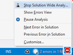 Switching solution-wide analysis