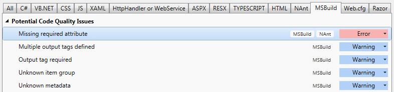 ReSharper_by_Language__MSBuild__Highlighting__Inspection_Severity