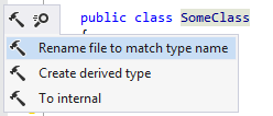 Renaming file to match type name