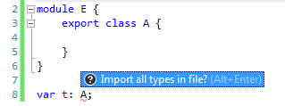 Importing missing namespace in TypeScript