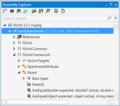 dotPeek's Assembly Explorer window