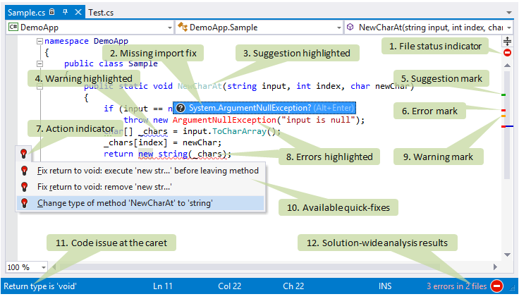 ReSharper features in Visual Studio editor