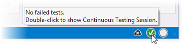Continuous testing status on Visual Studio toolbar