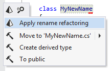 ReSharper. Applying Rename refactoring inplace