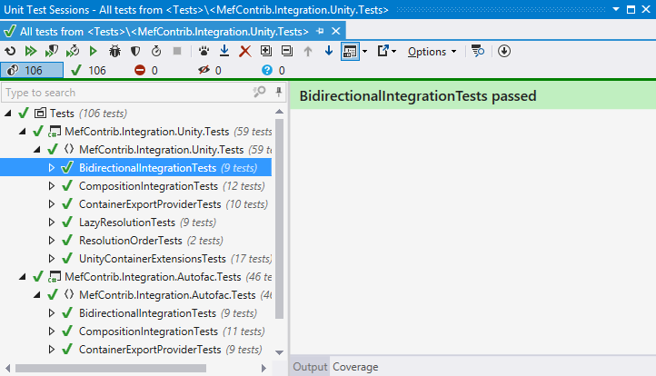 dotCover helps executing unit tests