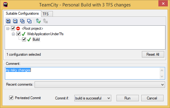 TeamCity Add-in: personal build details