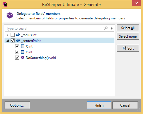 Generating delegating members with ReSharper