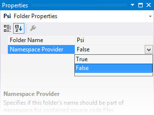 Rider code inspection: Namespace does not correspond to file location