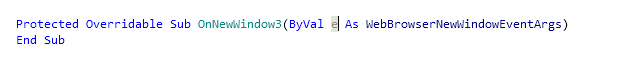 Reference Options Templates Live Templates Predefined VB NET Other byval after