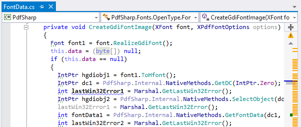 ReSharper highlights code issues in the editor