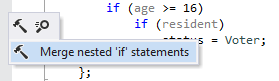 Merging nested 'if' statements in C++