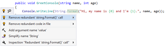 Redundant call to string formatting method