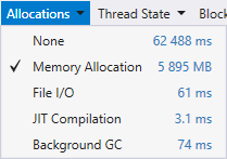 t2 memory allocation filter