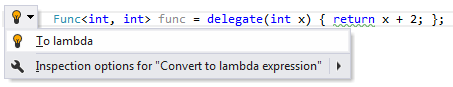 Code Analysis Examples of Quick Fixes to lambda 02