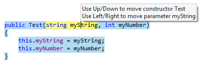 Rearranging code: selecting movable elements