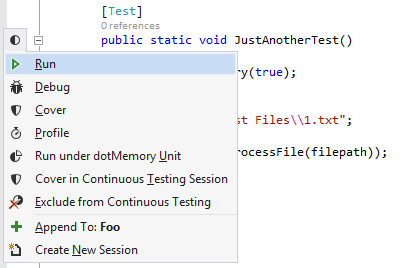 Profiling Tests with Unit Test Runner