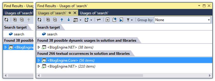 ReSharper by Language JavaScript Navigation Find Results