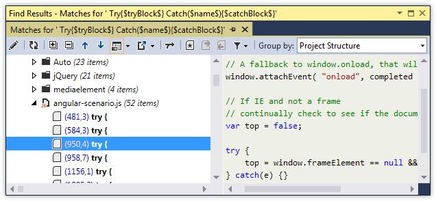 ReSharper by Language JavaScript Navigation SSR Results