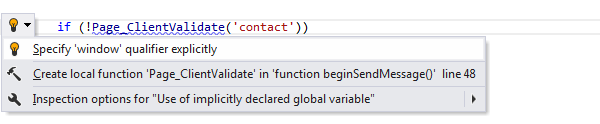 ReSharper by Language JavaScript Quick Fixes specify qualifier explicitly 01