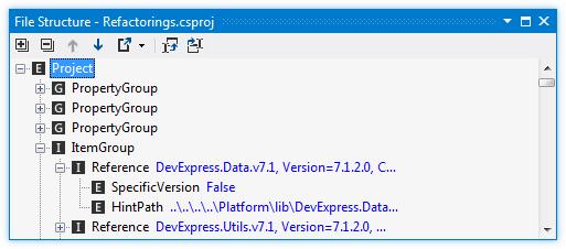 ReSharper by Language MSBuild File Structure