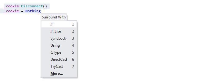 ReSharper by Language Visual Basic Surround Templates