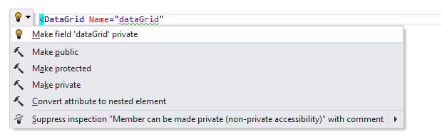 ReSharper by Language XAML Context Actions make private 01