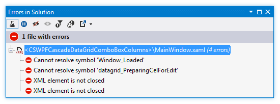 ReSharper by Language XAML Errors in Solution