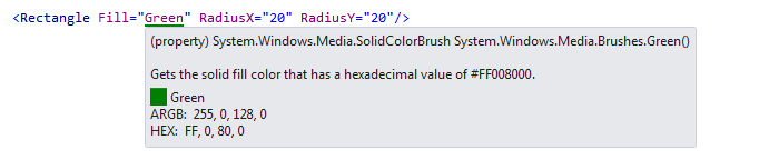 ReSharper by Language XAML Highlighting Tooltip for color value