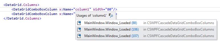 ReSharper by Language XAML Navigation Usages of Symbol
