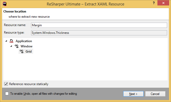 ReSharper by Language XAML Refactorings Extract Resource 02