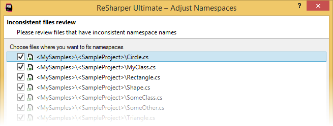 Synchronizing namespaces with project structure
