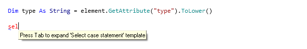 Reference Options Templates Live Templates Predefined VB NET Other sel before