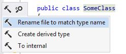 Renaming file to match type name