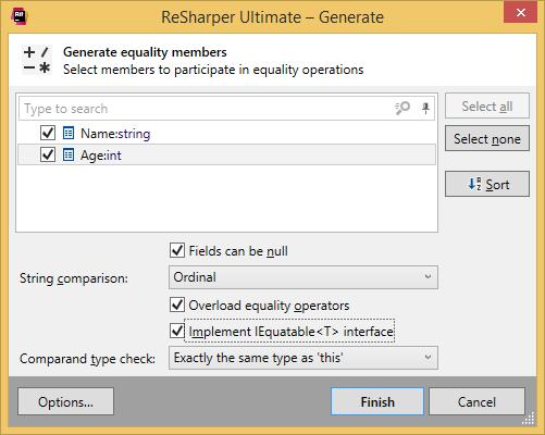 Generating equality members