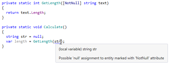 ReSharper detects possible NullReferenceException