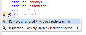 Removing unused #include directives