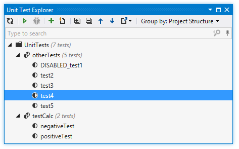Unit Test Explorer displays test from the entire solution
