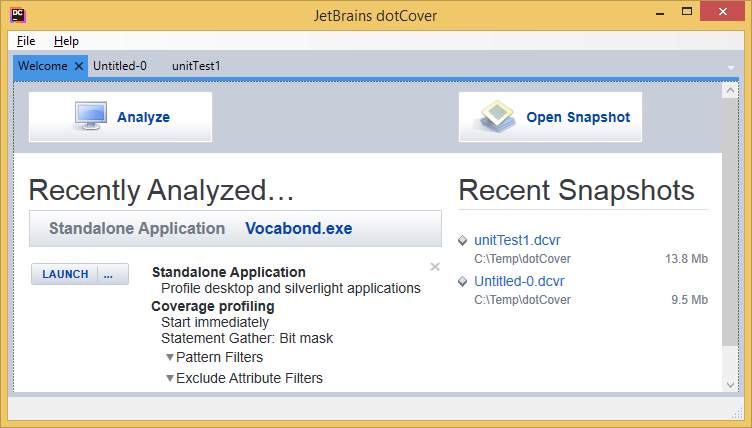 dotCover standalone application