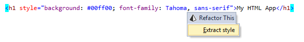 Extract Style refactoring in HTML