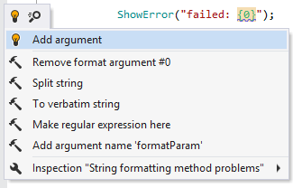 Quick-fix for the string formatting method call