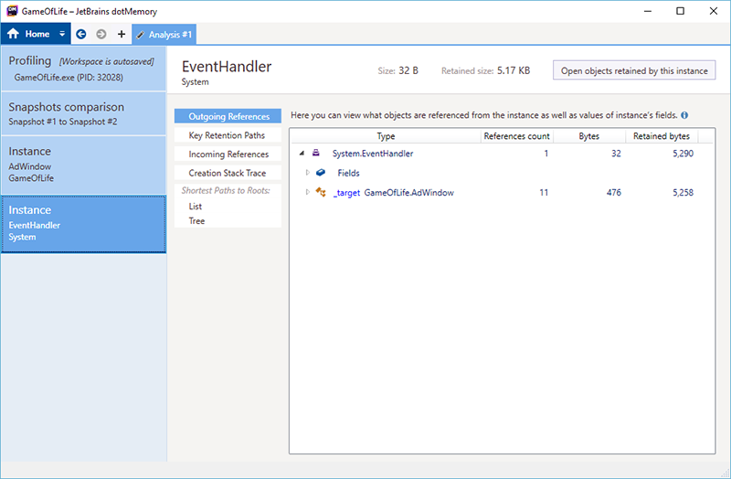 t2 eventhandler instance