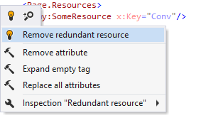 ReSharper helps removing unused XAML resources