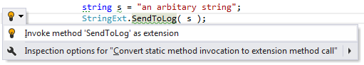 Code Analysis Examples of Quick Fixes invoke as extension method 02
